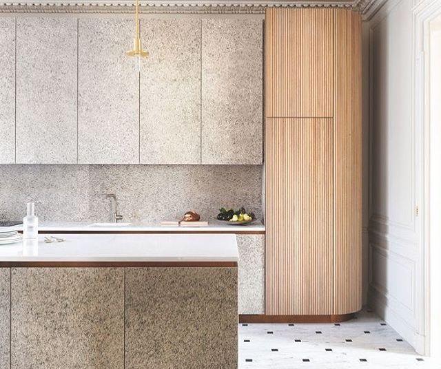 Feuille de pierre 100% naturelle StoneLeaf modèle Oslo sur les murs meubles et crédence de cuisine