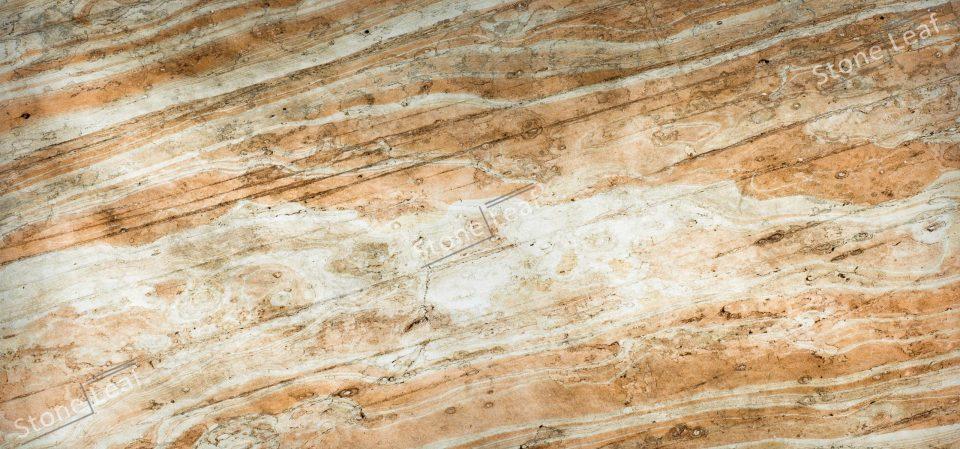 Feuille de pierre 100% naturelle translucide Dubai de face