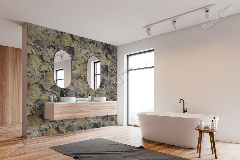 Feuille de pierre 100% naturelle Moscou salle de bain