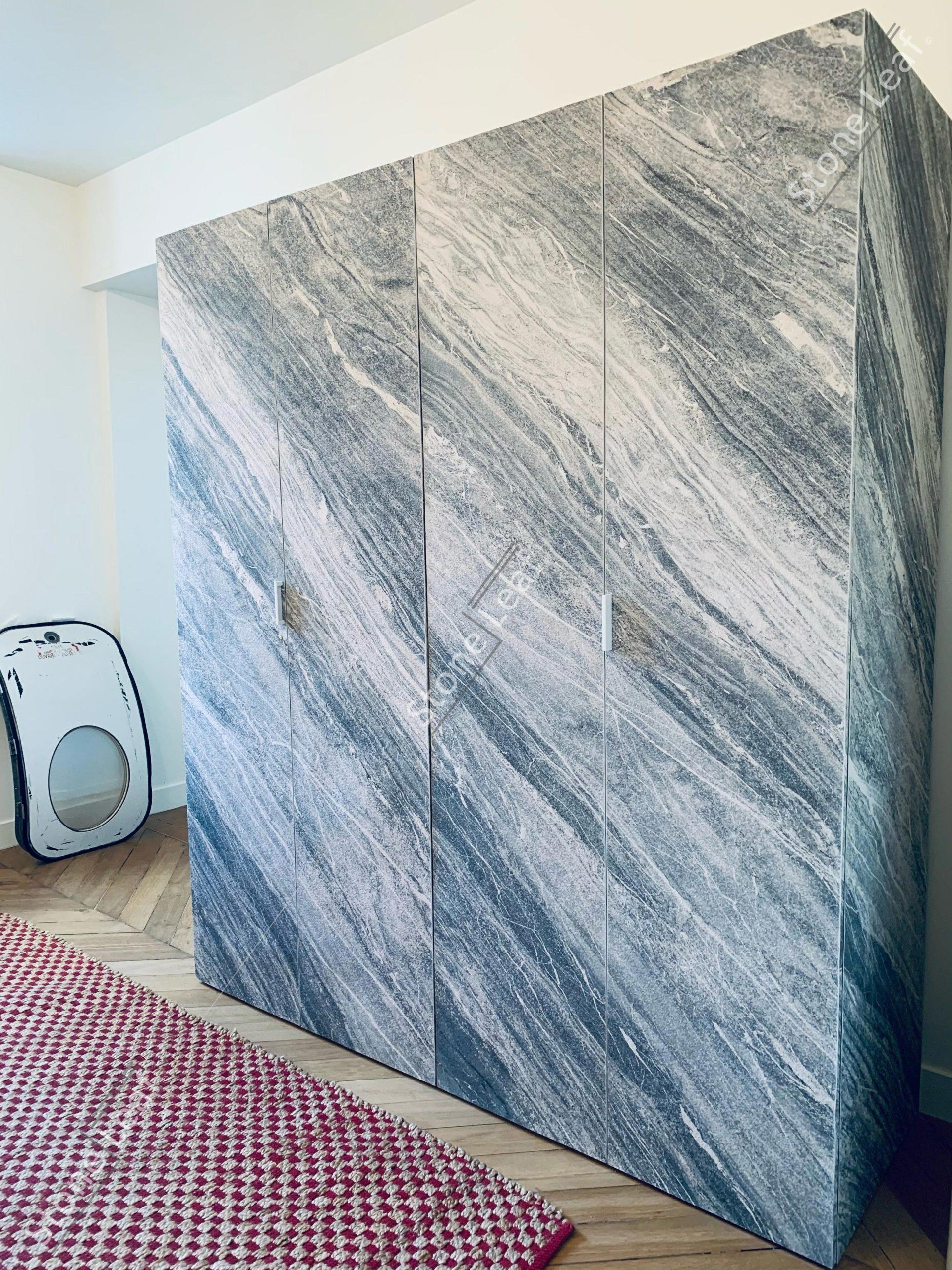 Feuille de pierre 100% naturelle armoire revêtement