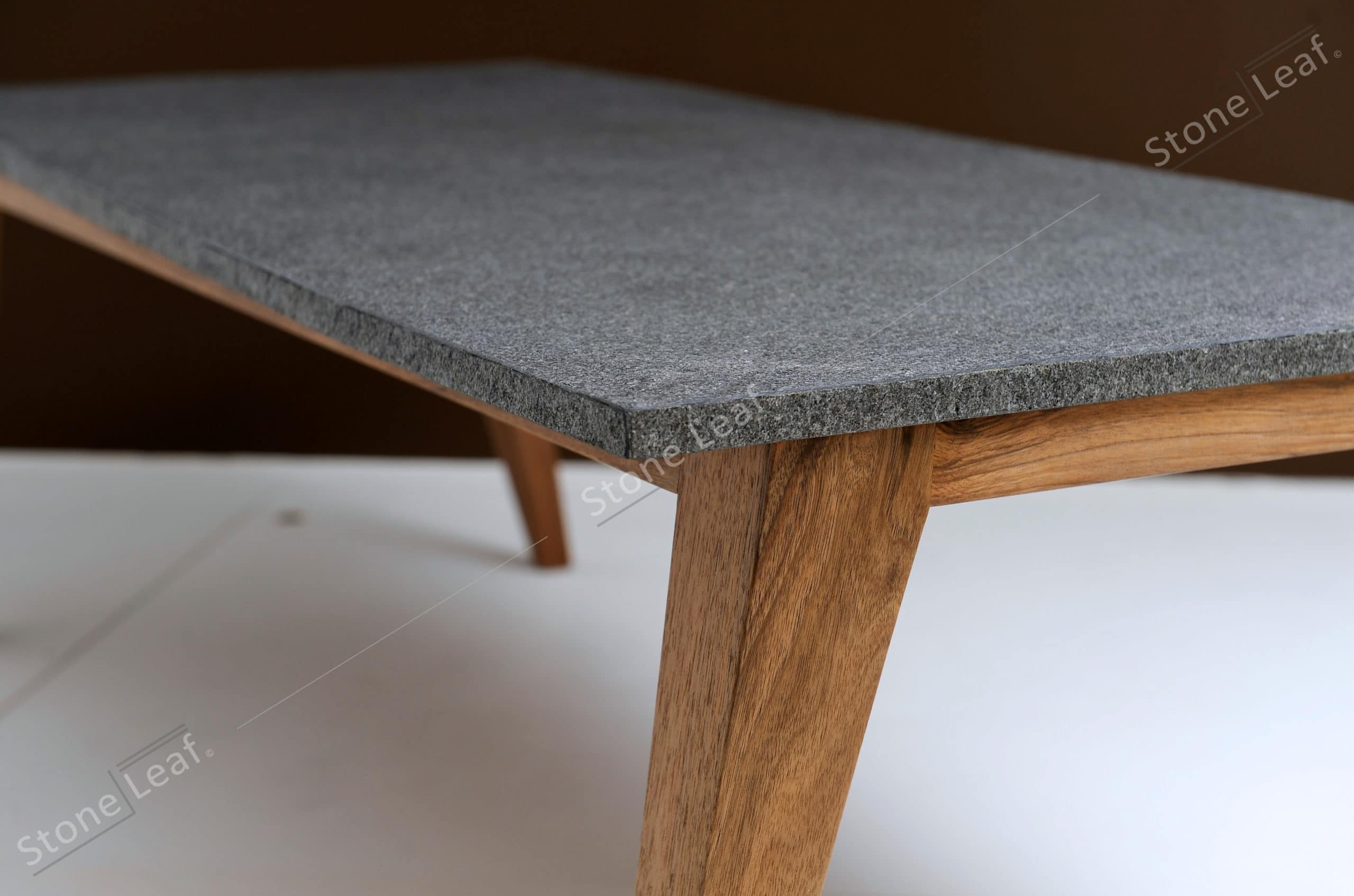 100% natural stone sheets on a table