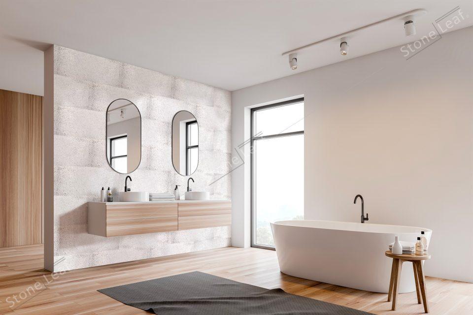 Feuille de pierre 100% naturelle Oslo revêtement salle de bain