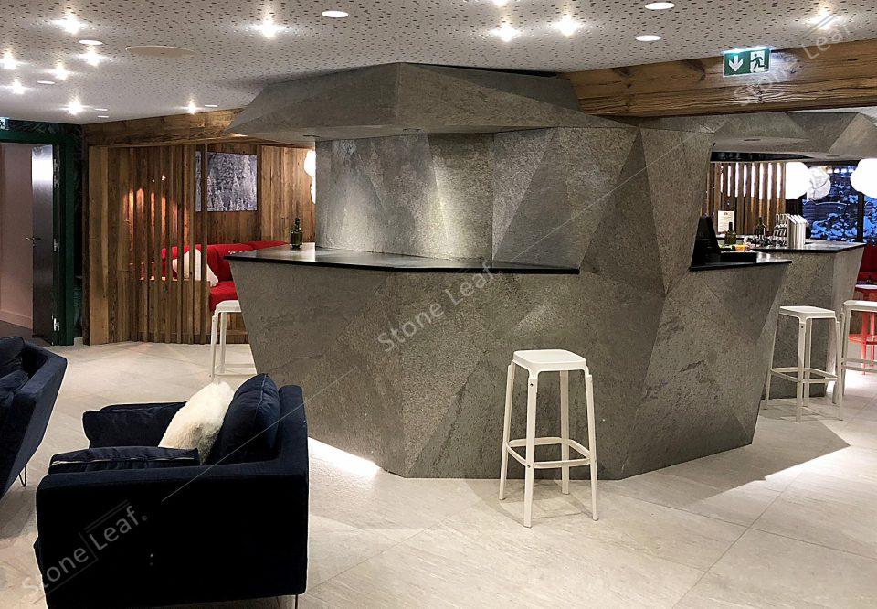 Feuille de pierre 100% naturelle Phuket en habillage de bar
