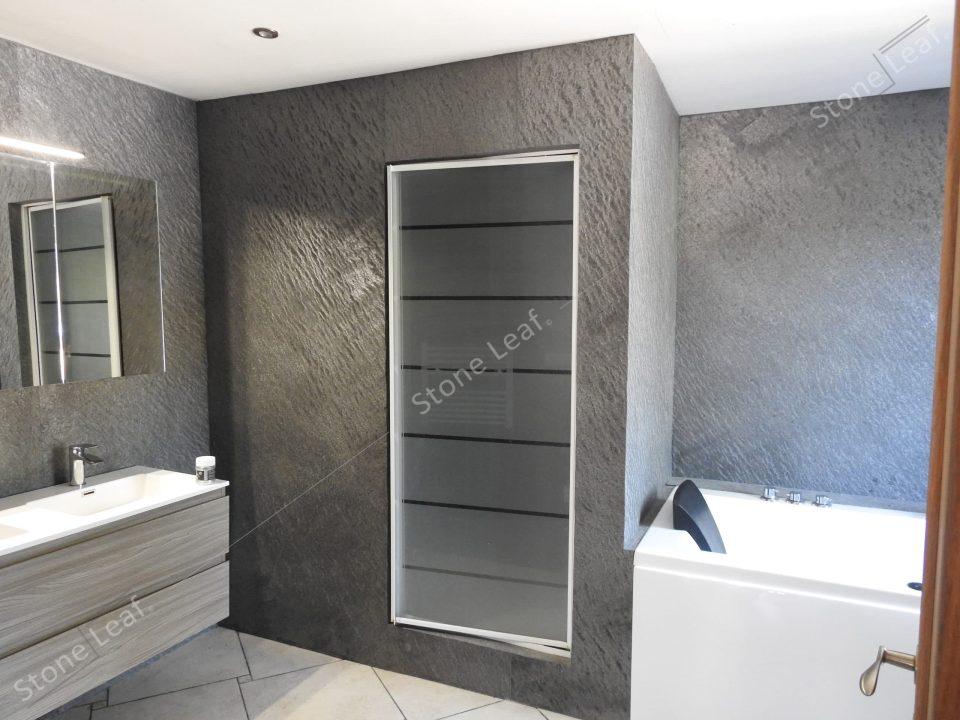 Feuille de pierre 100% naturelle Canberra en revêtement murale de salle de bain