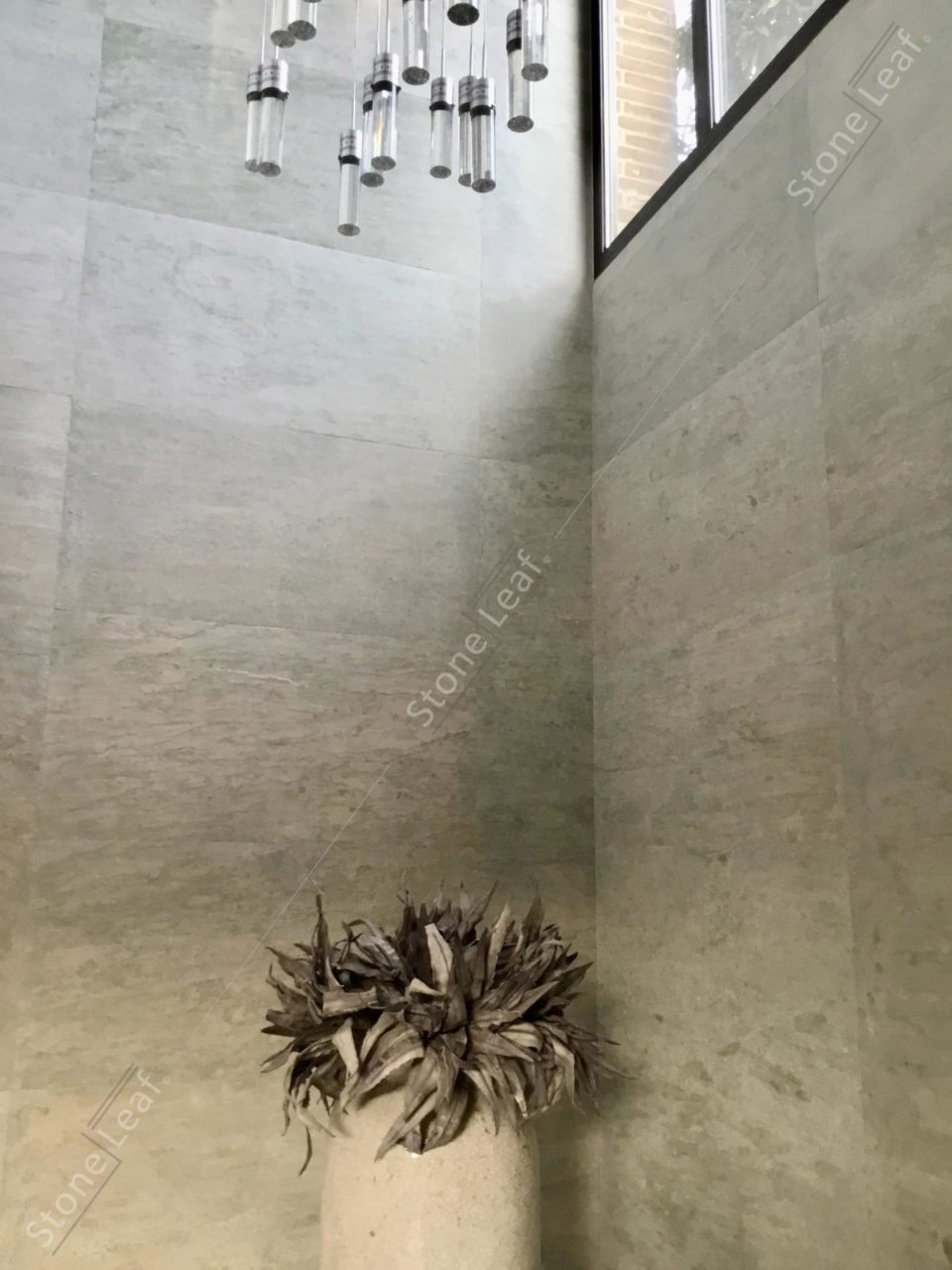 Feuille de pierre 100% naturelle en décoration murale