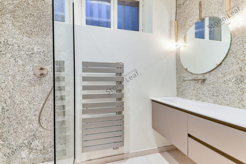 Feuille de pierre 100% naturelle oslo dans une salle de bain