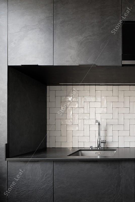 Feuille de pierre 100% naturelle mobilier cuisine londres