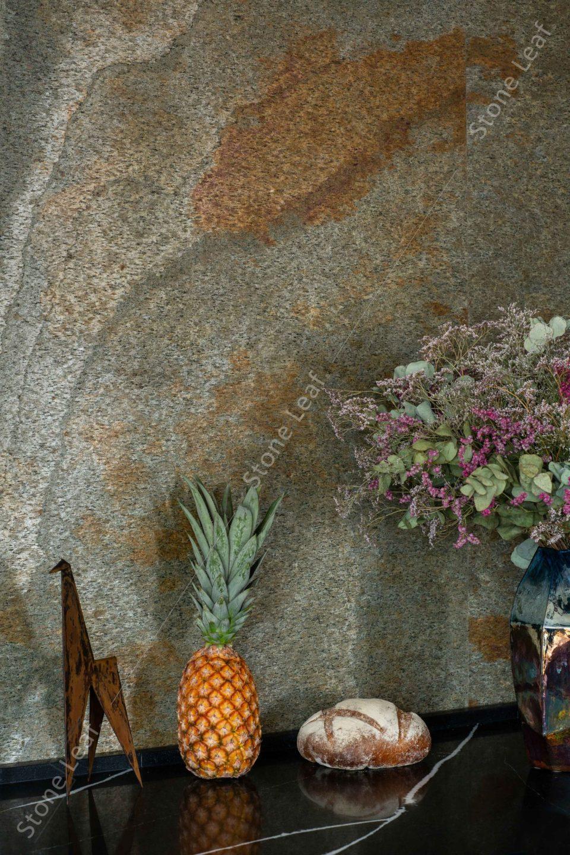 feuille de pierre 100% naturelle paris en revêtement mural
