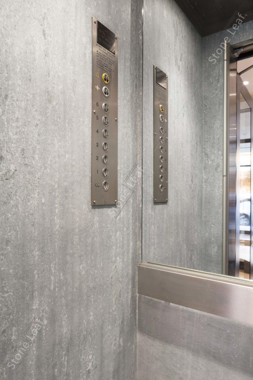 Feuille de pierre 100% naturelle à l'intérieur d'un ascenseur