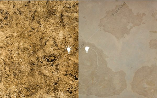 Feuille de pierre 100% naturelle Translucide Ankara