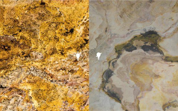 Feuille de pierre 100% naturelle Translucide Prague