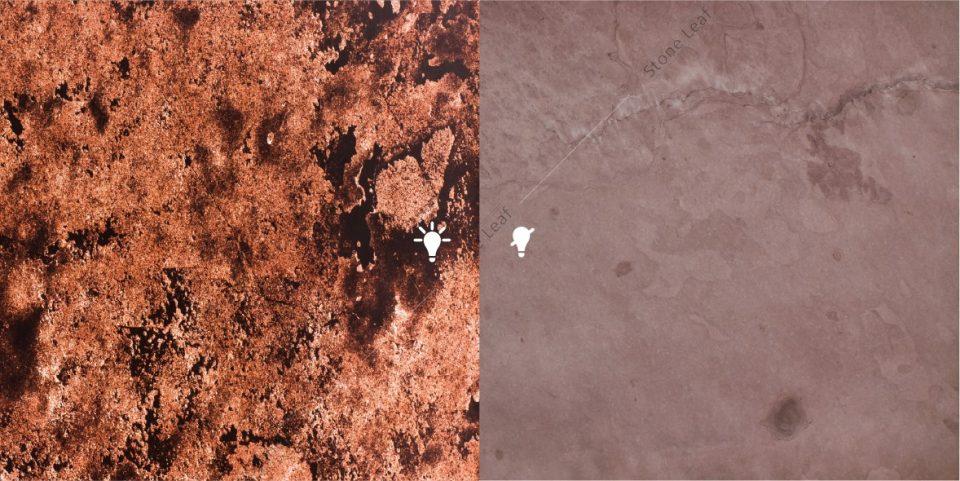 Feuille de pierre 100% naturelle Translucide Rio