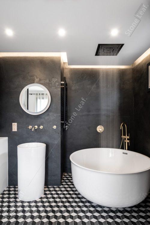 Feuille de pierre 100% naturelle Londres dans une salle de bain