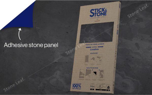 100% natural & adhesive stone sheets Londres model