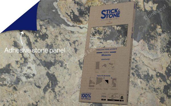 100% natural & adhesive stone sheets Moscou model