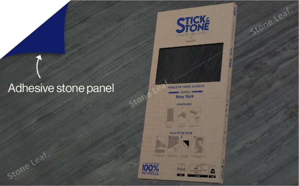 100% natural & adhesive stone sheets New York model