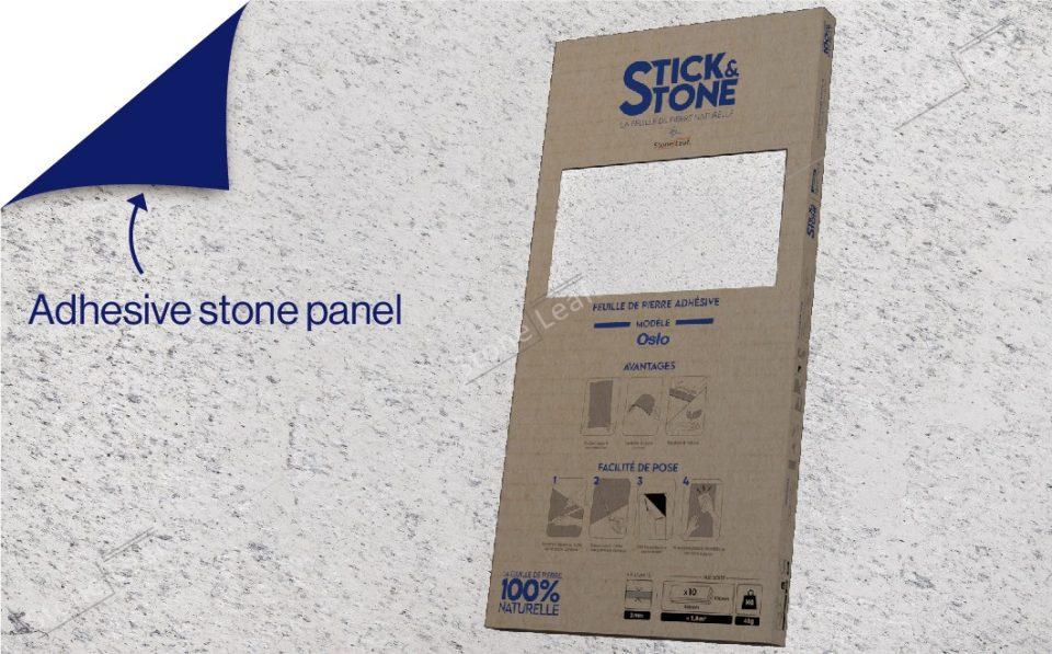 100% natural & adhesive stone sheets Oslo model