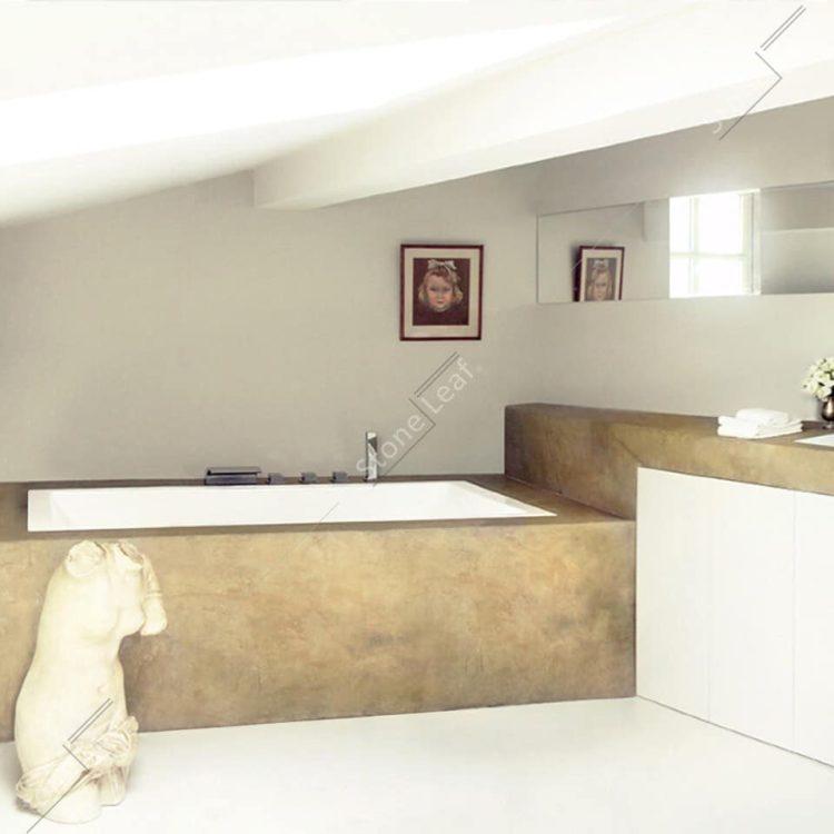 Feuille de pierre 100% naturelle Ankara en revêtement de baignoire