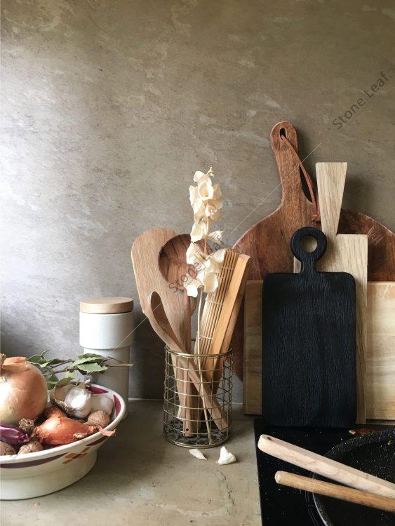 Crédence cuisine feuille de pierre 100% naturelle StoneLeaf