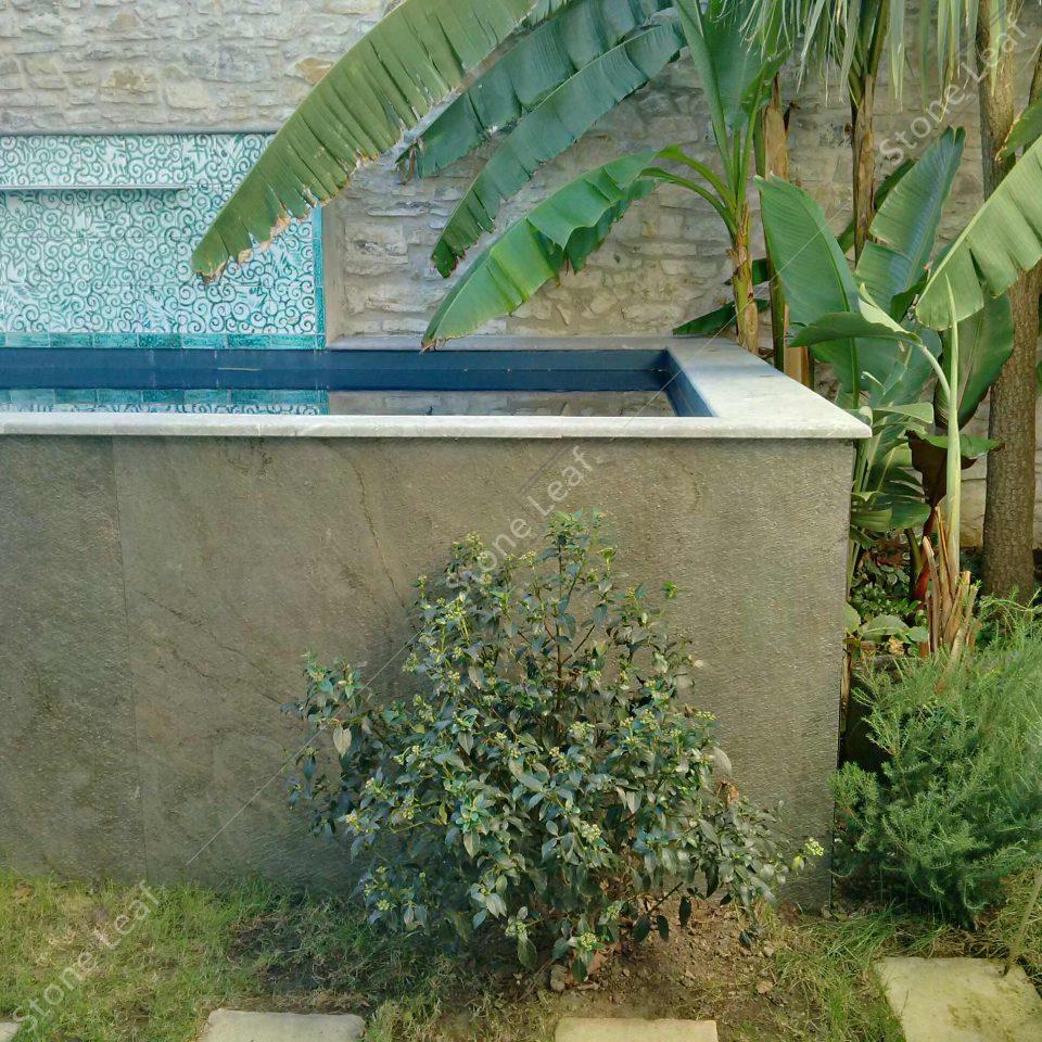 Feuille de pierre 100% naturelle StoneLeaf Amsterdam revêtement de piscine