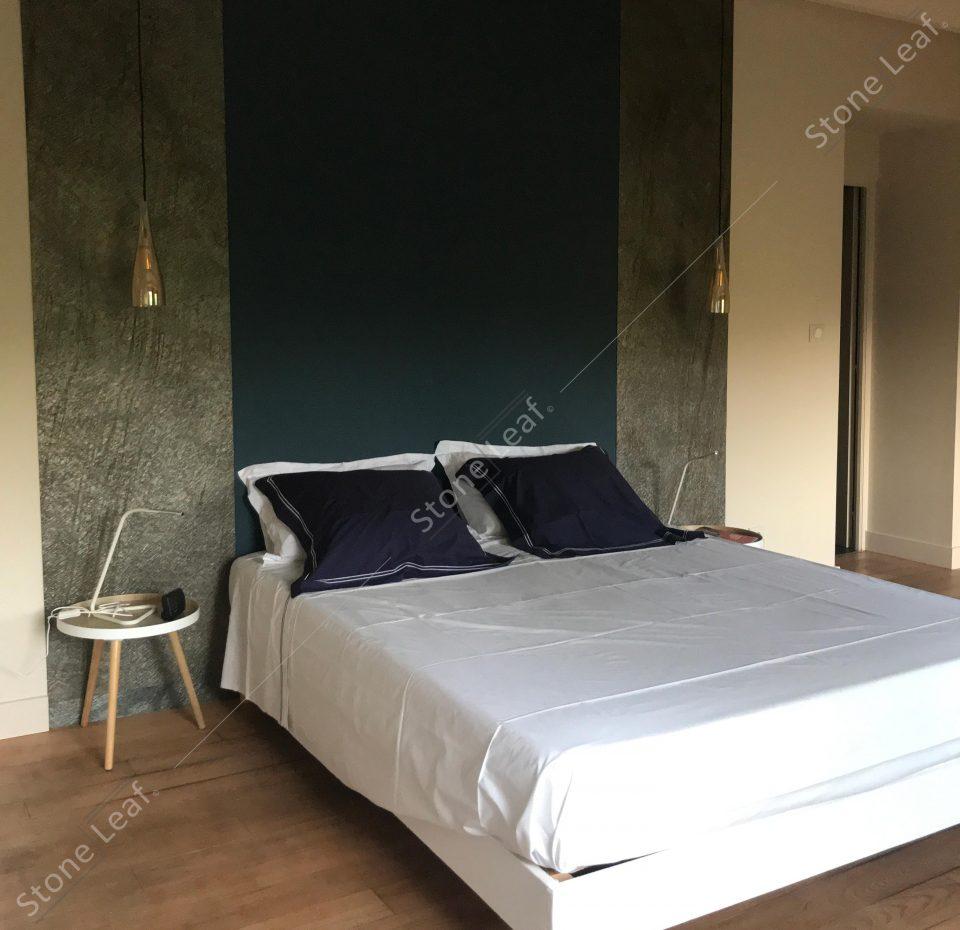 Feuille de pierre Amsterdam en tête de lit
