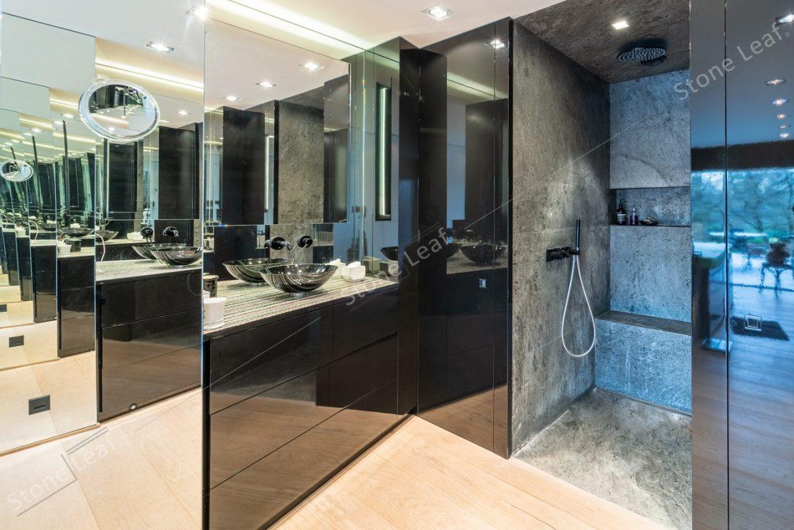 Feuille de pierre 100% naturelle Minsk en salle de bain
