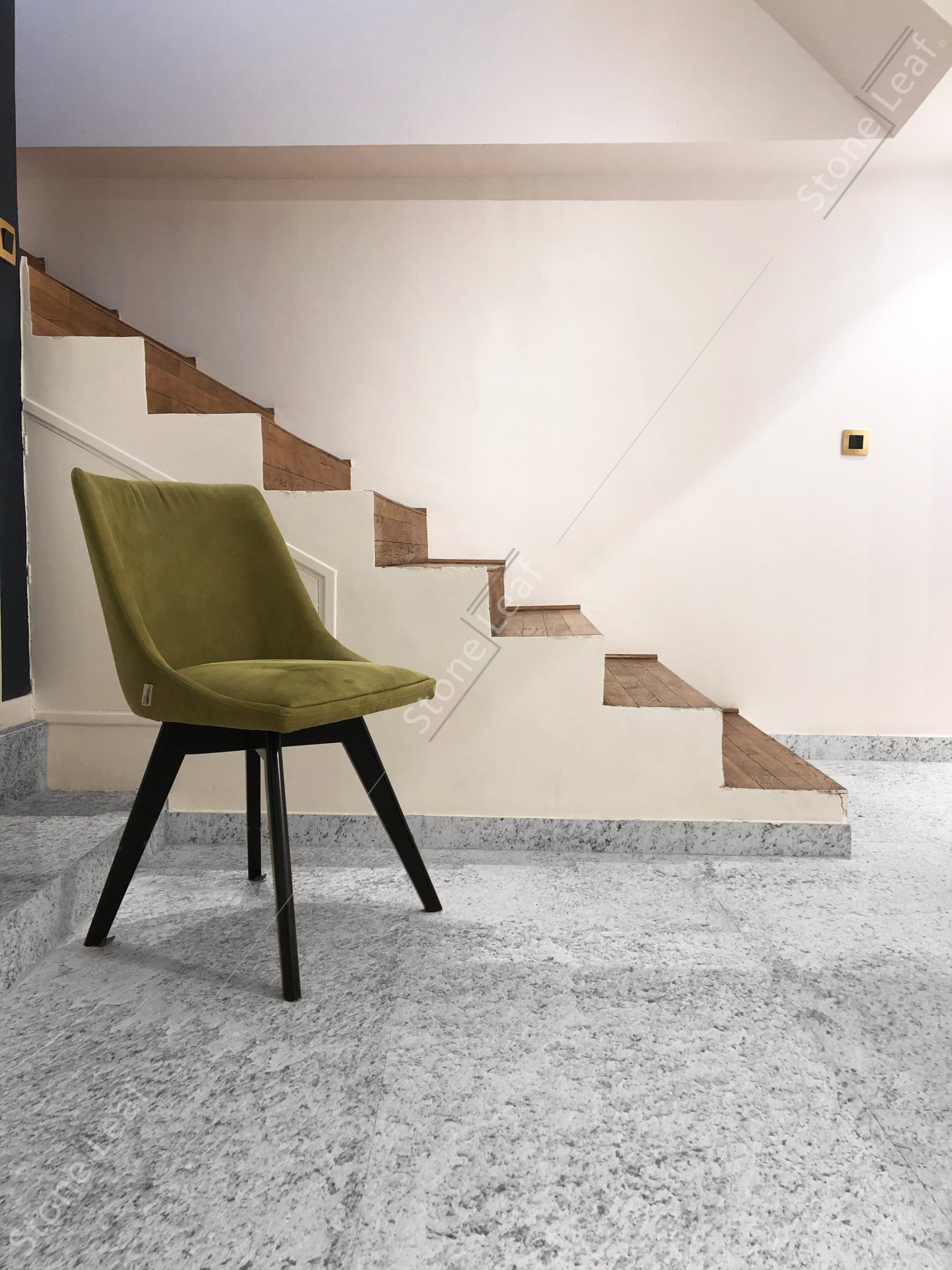 100% natural stone sheet on the floor