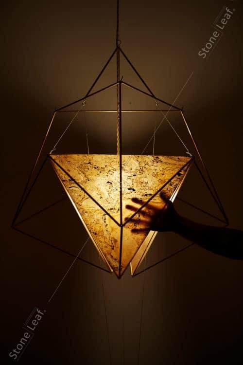 Feuille de pierre 100% naturelle translucide en luminaire