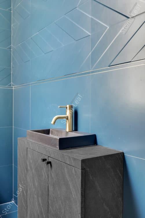 Feuille de pierre 100% naturelle en mobilier de salle de bain