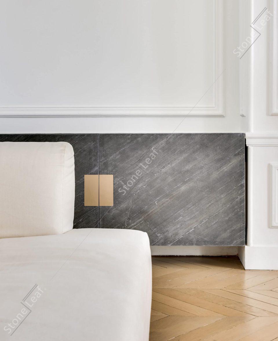 Feuille de pierre 100% naturelle en mobilier de salon