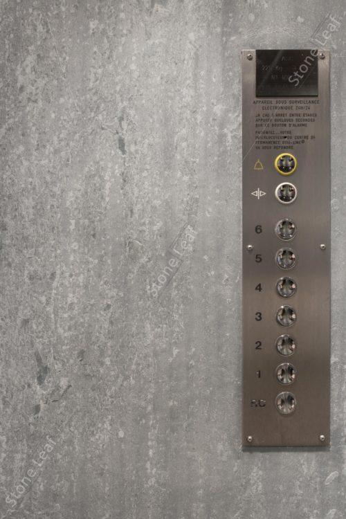 Feuille de pierre 100% naturelle sur les paroies d'un ascenseur