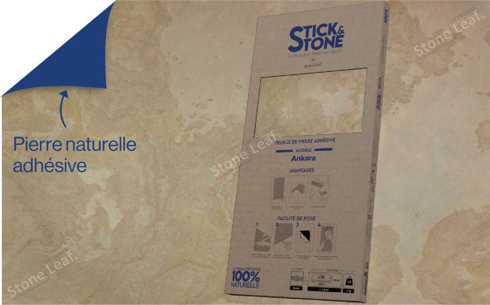 Feuille de pierre 100% naturelle Ankara packaging