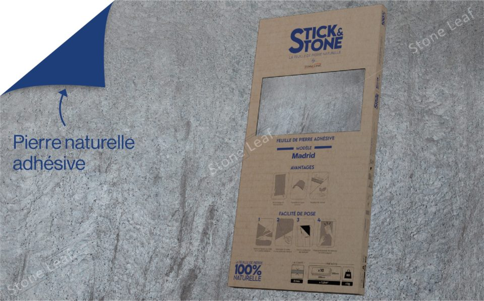 Feuille de pierre 100% naturelle Madrid packaging