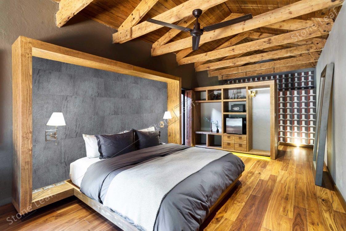 Feuille de pierre 100% naturelle Madrid chambre