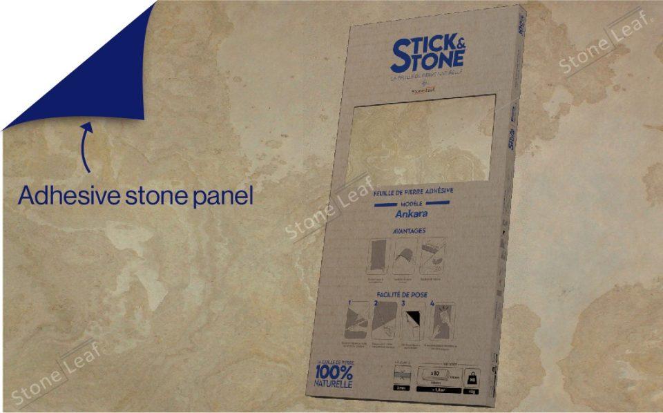 100% natural & adhesive stone sheets Ankara model