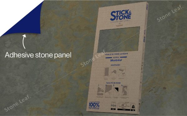 100% natural & adhesive stone sheets Montréal model