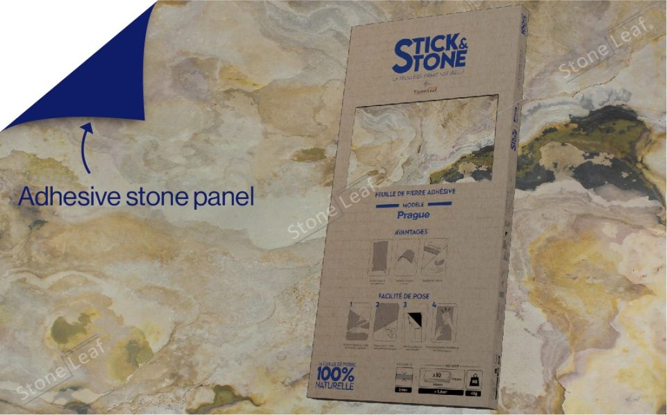100% natural & adhesive stone sheets