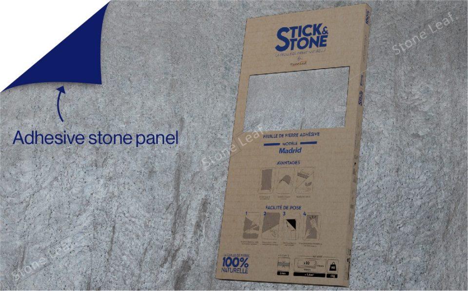 100% natural & adhesive stone sheets Madrid model