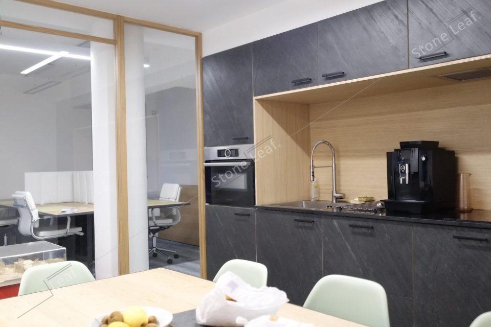 Feuille de pierre 100% naturelle en mobilier de cuisine
