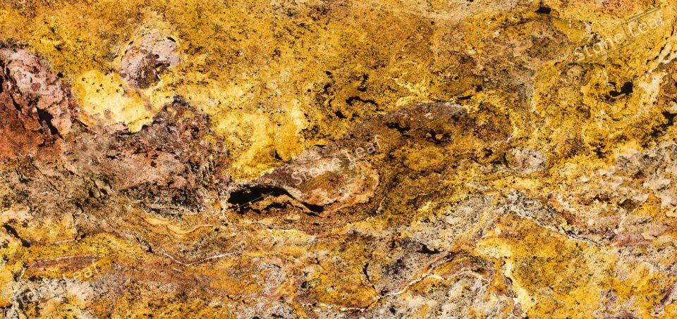 Feuille de pierre 100% naturelle translucide Prague de face