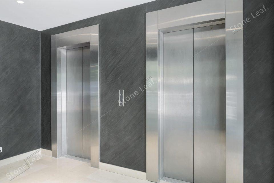 Feuille de pierre 100% naturelle sur un ascenseur