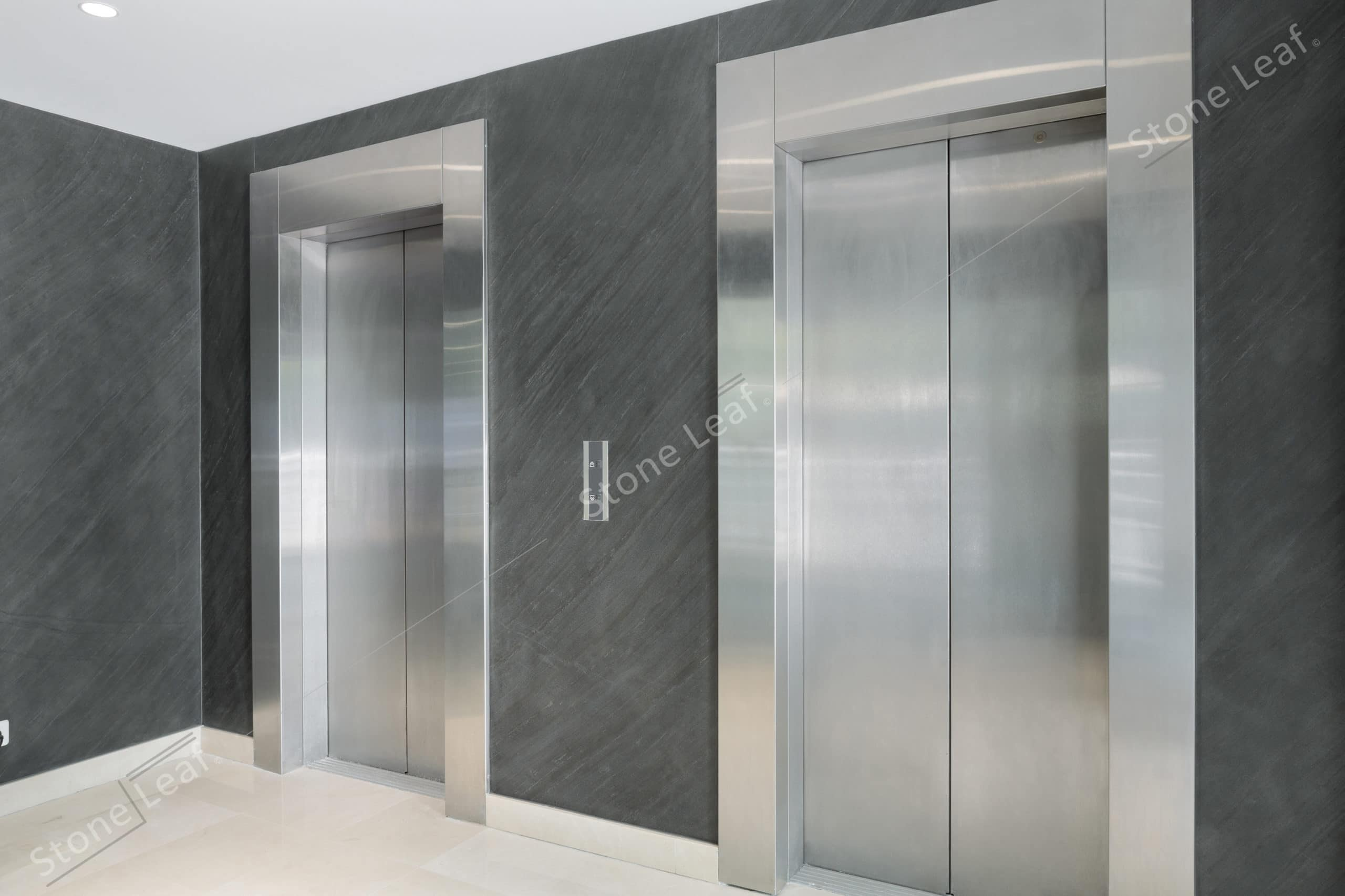 100% natural stone sheets into an elevator
